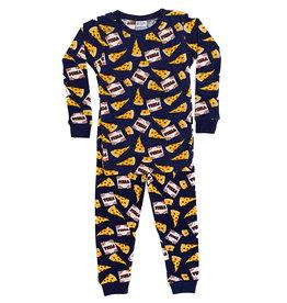 Baby Steps Navy Pizza Infant PJ Set