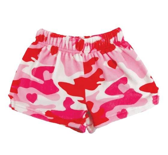 IScream Camo Heart Plush Shorts
