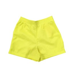 Dori Creations Neon Yellow Mesh Shorts