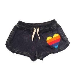 Play Six Rainbow Heart Burnout Shorts