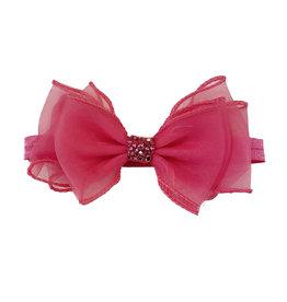 Bari Lynn Sheer Fancy Bow Hot Pink Headband