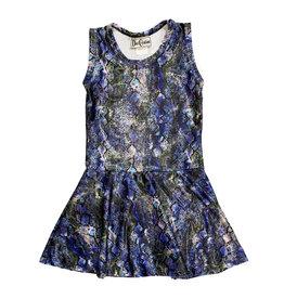 Dori Purple Glitter Snake Dress