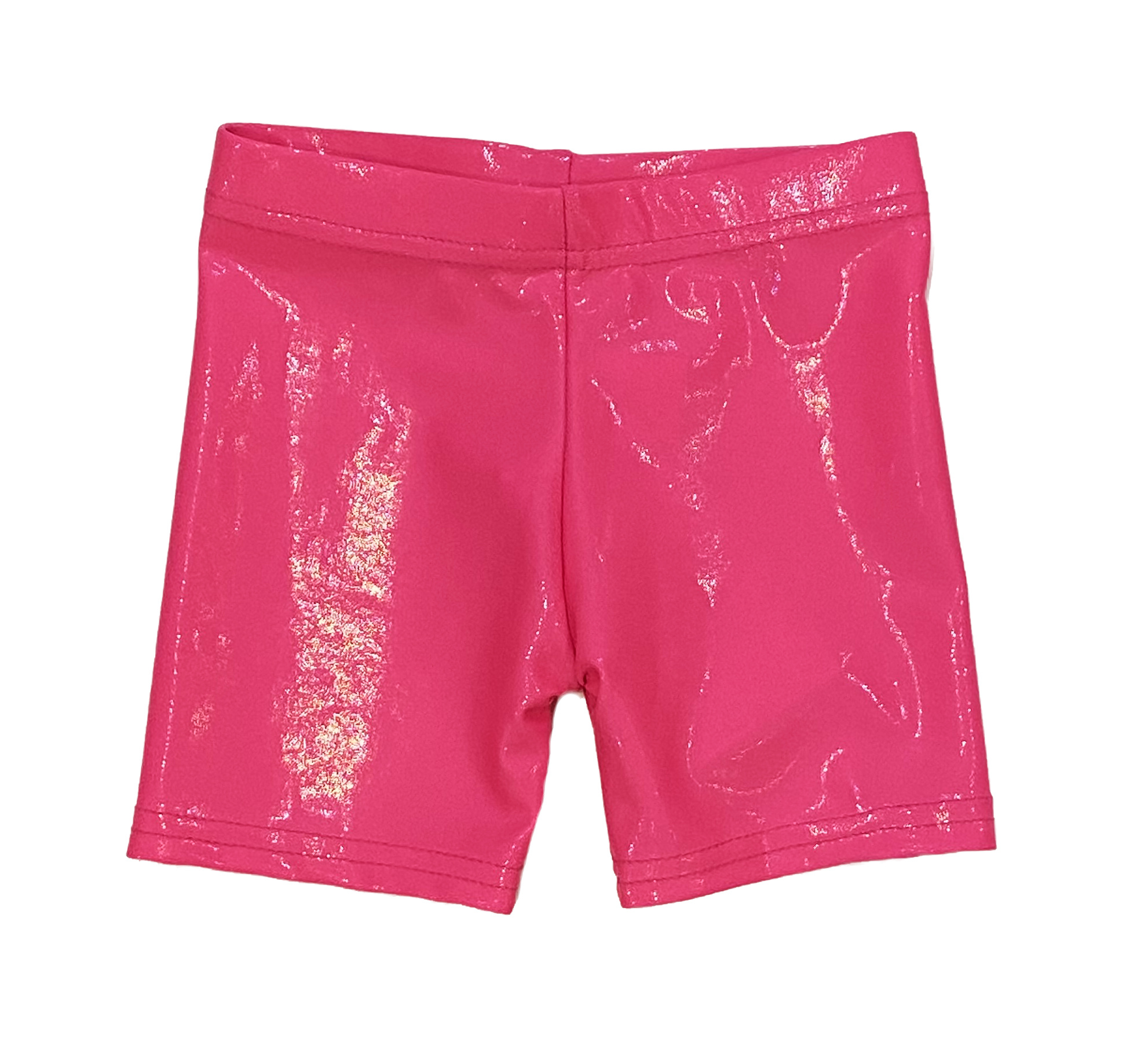 Dori Neon Pink Lame Bike Shorts