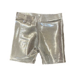 Dori Silver Lame Bike Shorts