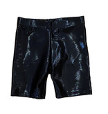 Dori Black Lame Bike Shorts