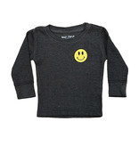 Small Change Yellow Smile Grey Thermal Top
