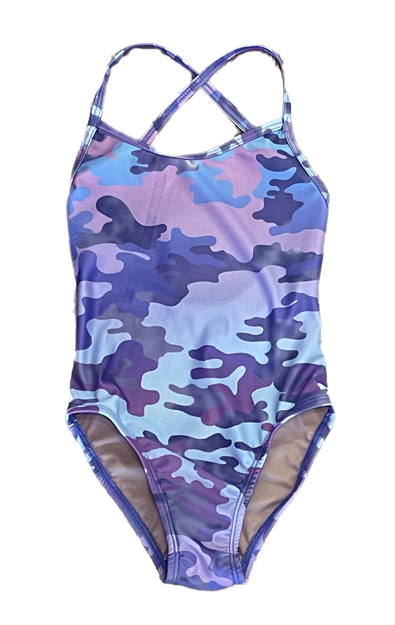 Cruz Violet Camo 1Pc Swimsuit