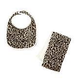 Tan Cheetah Bib or Burp Cloth Burp Cloth