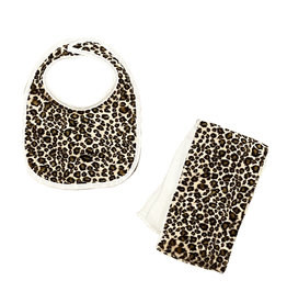 Tan Cheetah Bib or Burp Cloth Burp Cloth