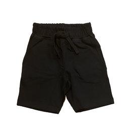 Mish Solid Comfy Pocket Shorts-Black