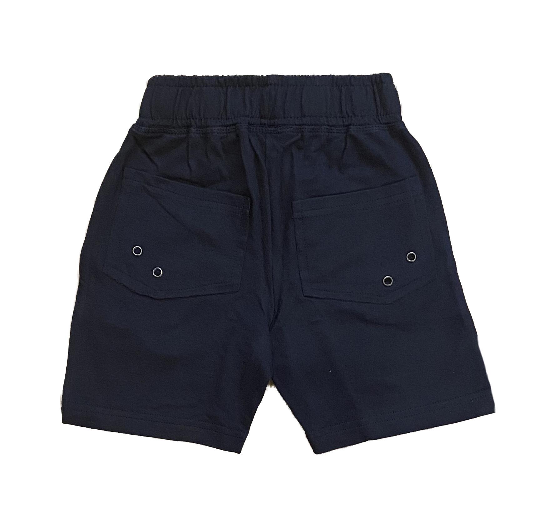 Mish Solid Comfy Pocket Shorts-Navy