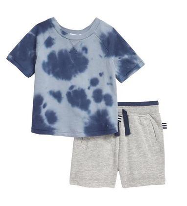 Splendid Wave Blue TD 2 pc Infant Short Set