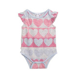 Splendid Heather Pink Hearts Infant Romper