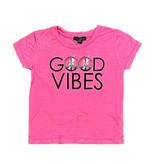 Flowers by Zoe Pink Good Vibes Toddler Tee