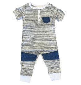 Miki Miette Verrigated Denim Pocket Pant Set