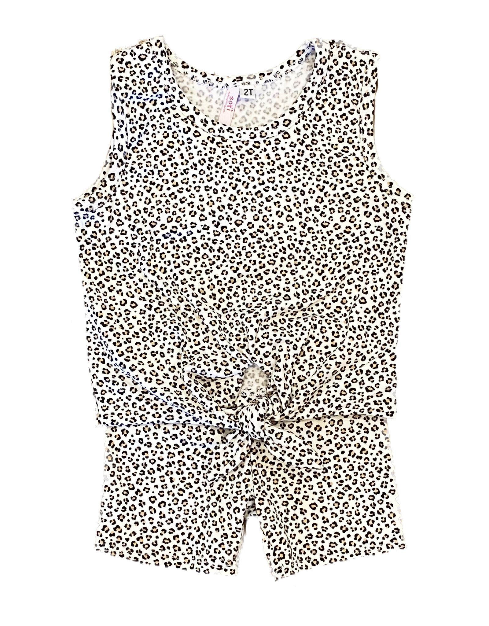 Sofi Mini Leopard Knot Tank Short Set