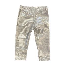 Dori Silver Metallic Infant Leggings