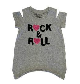 Small Change Grey Rock n Roll Hearts Tee