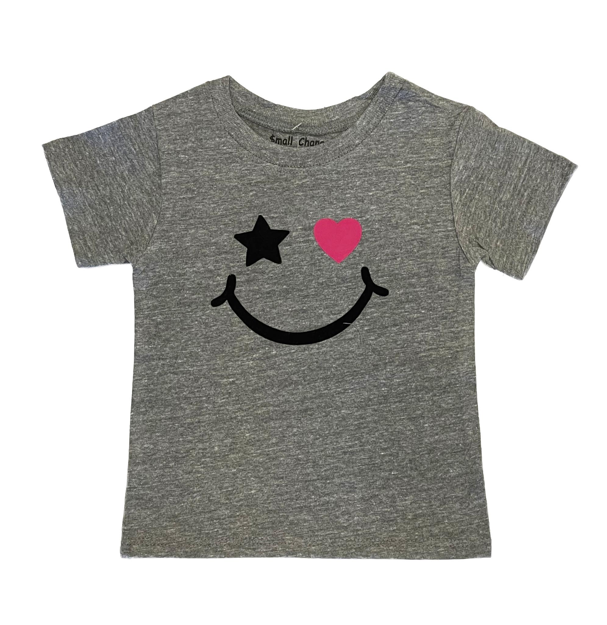 Small Change Grey Smiley Heart Tee