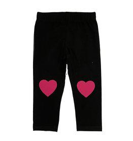 Small Change Hot Pink Heart Knee Leggings