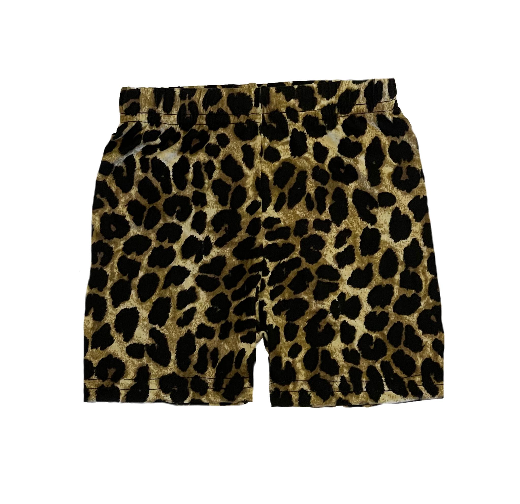 Small Change Soft Leopard Bike Shorts