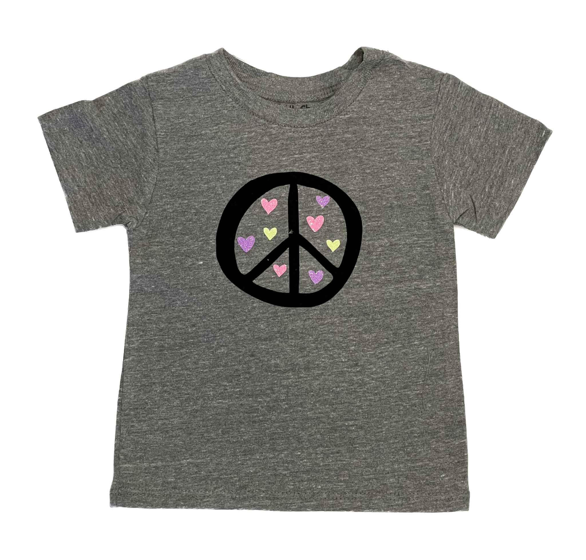 Small Change Grey Peace Hearts Tee