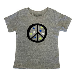 Small Change Grey Peace Stars Tee