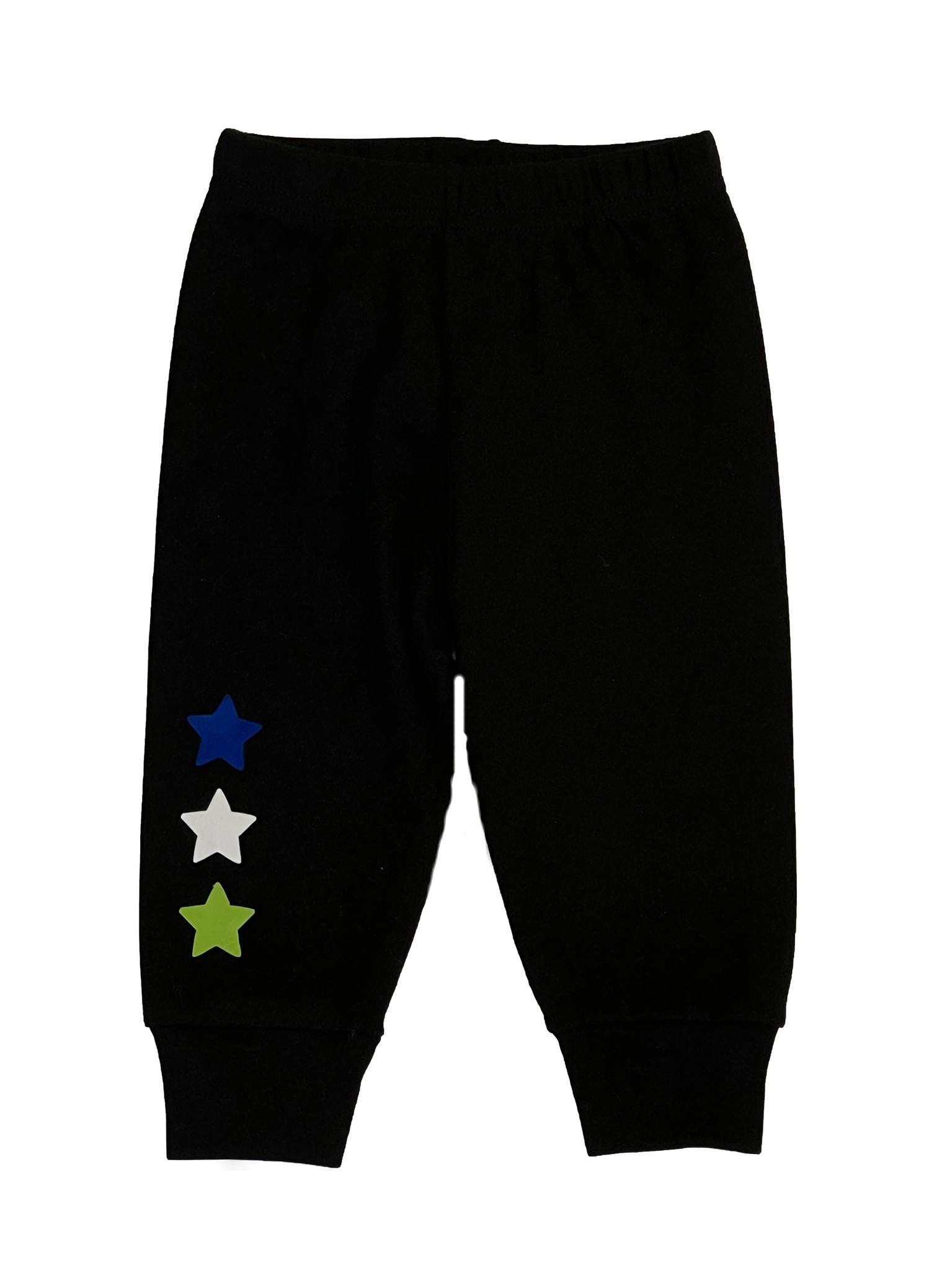 Small Change Black Triple Multi Star Pant