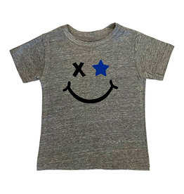 Small CHange Grey Smiley Star Top