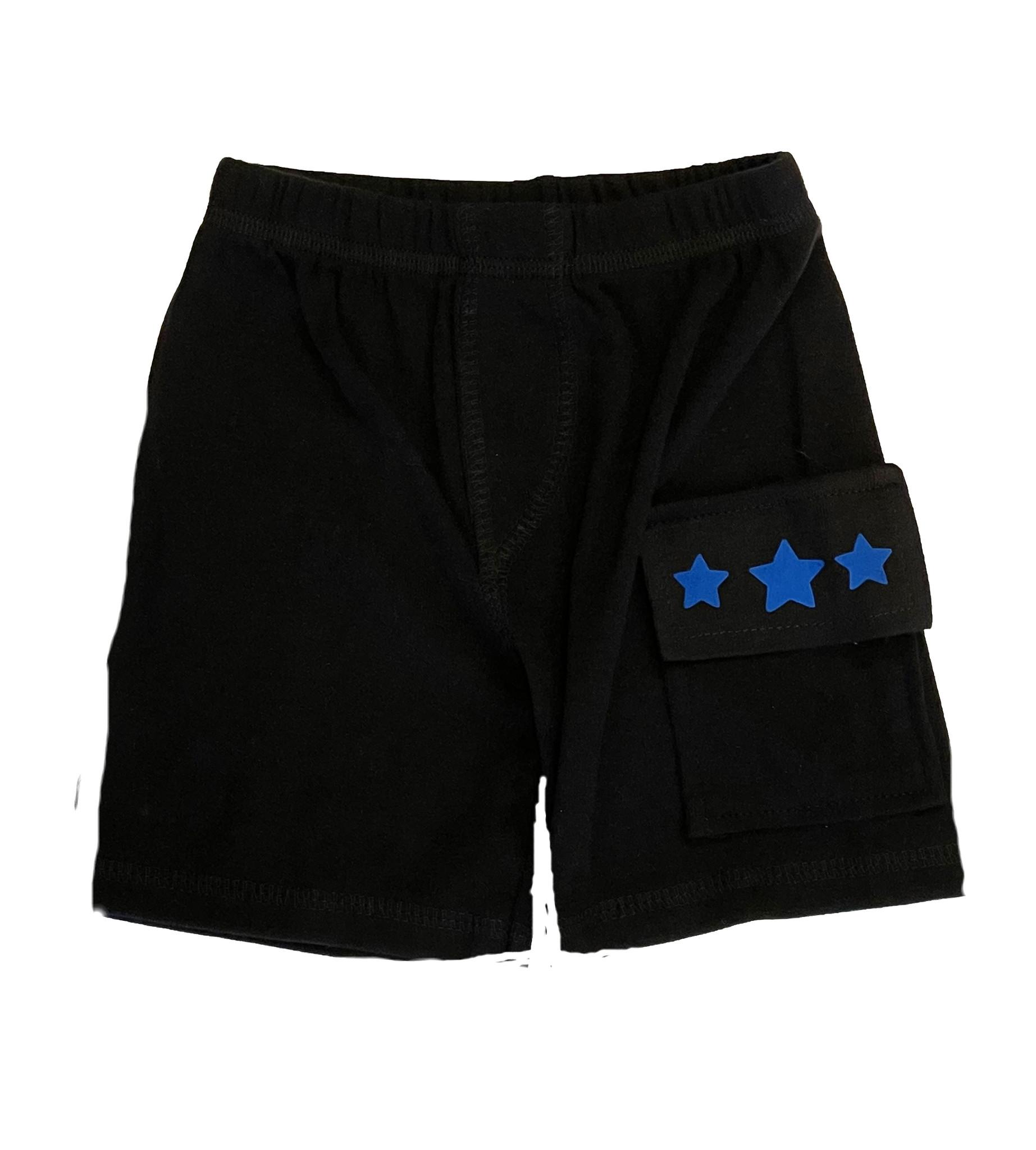 Small Change Blue Star Pocket Shorts
