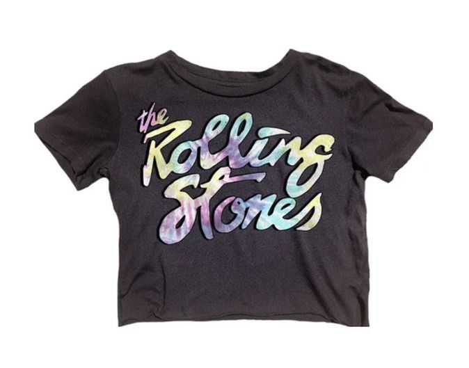 Rowdy Sprout Rolling Stones Cropped Tee