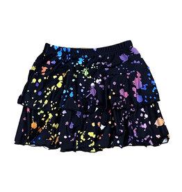 Social Butterfly Splatter 2 Tier Skirt