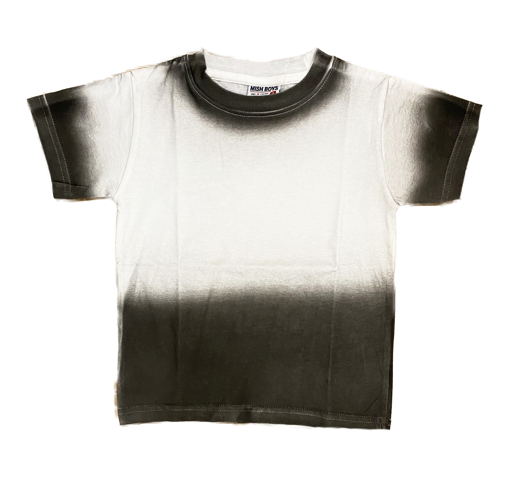 Mish Wht/Char/Blk Ombre Tee