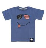Mish Blue Star/Stripe Sunglass Infant Tee