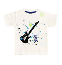 Mish White Guitar Splash Infant Tee