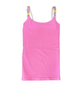 Malibu Sugar Pink Rainbow Strap Cami 7-10