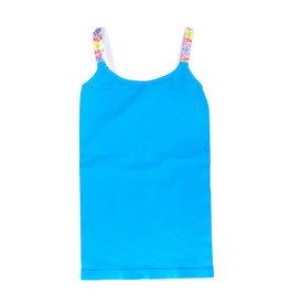 Malibu Sugar Blue Rainbow Strap Cami 7-10