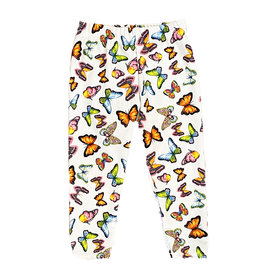 Dori Neon Butterfly White Infant Leggings