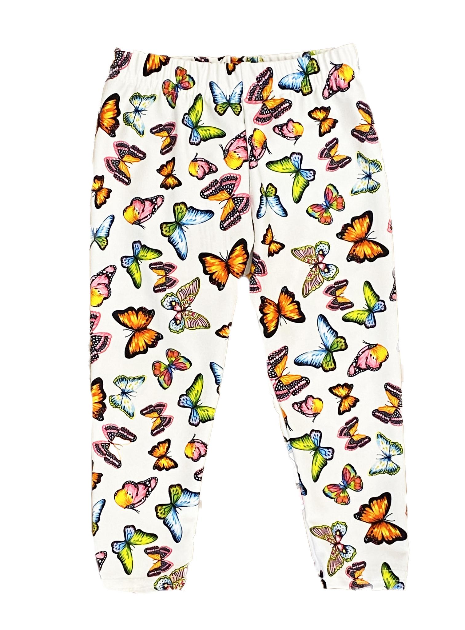 Dori Neon Butterfly White Infant Legging
