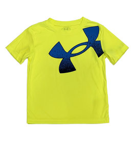 Under Armour HiVu Yellow/Blue Lg Logo Tee