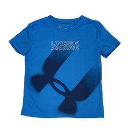 Under Armour Blue Airbrush Logo Tee