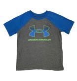 Under Armour Pitch Grey/Blue Green Logo Raglan Tee
