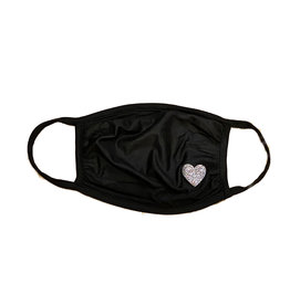 Sofi Black with Silver Heart Mask- 4 sizes