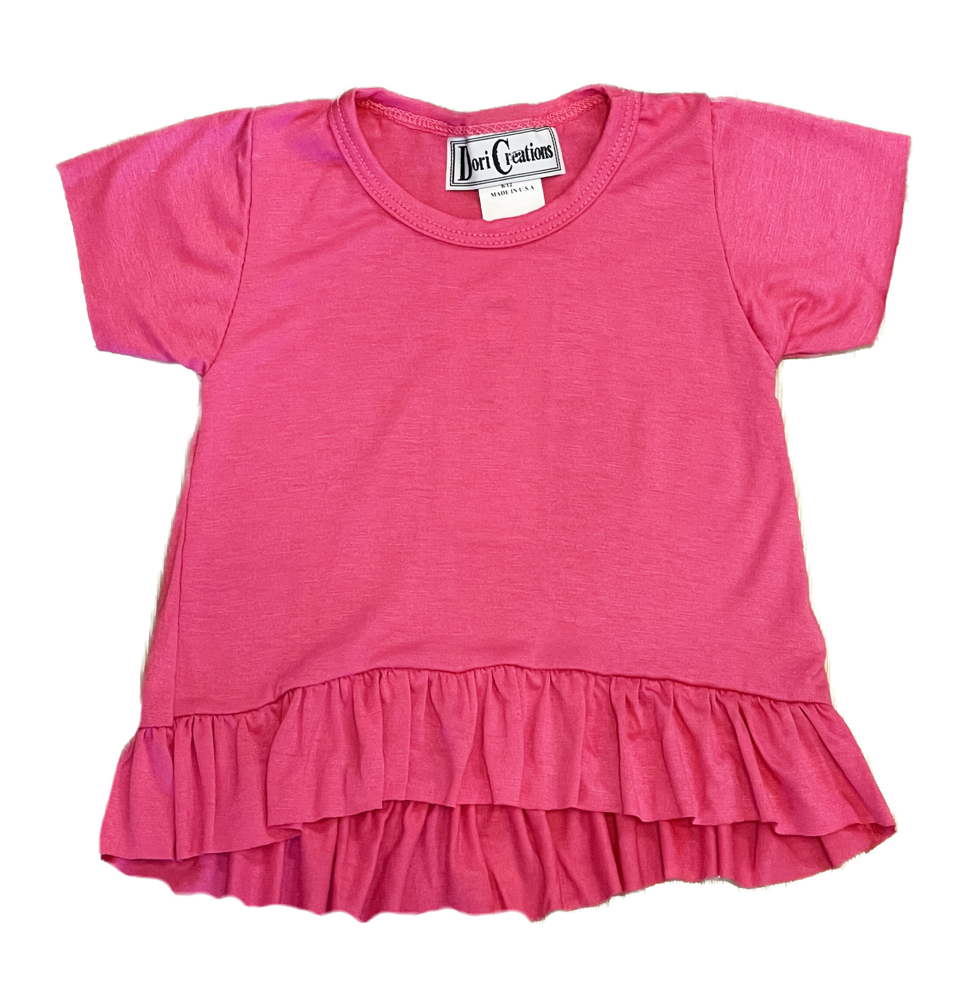 Dori Ruffle Infant Tee Hot Pink