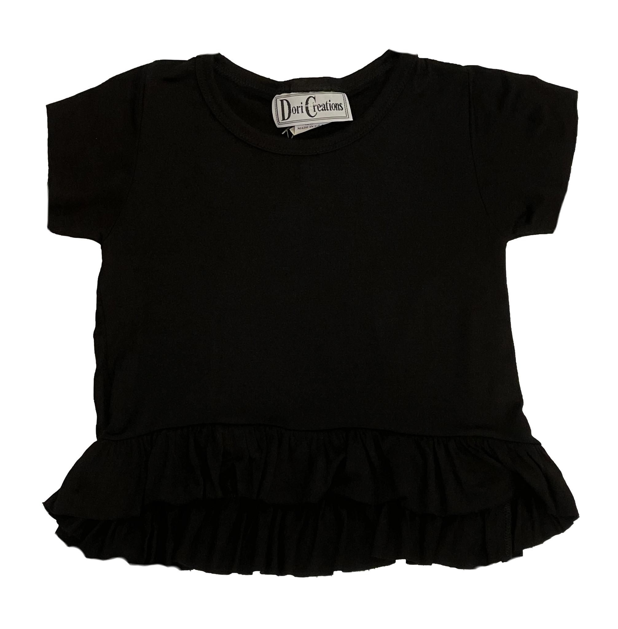Dori Ruffle Infant Tee Black