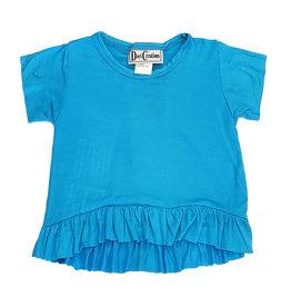 Dori Ruffle Infant Tee Turquoise