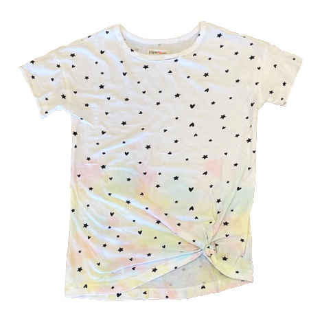 Paper Flower TD Heart Star Knotted Tee