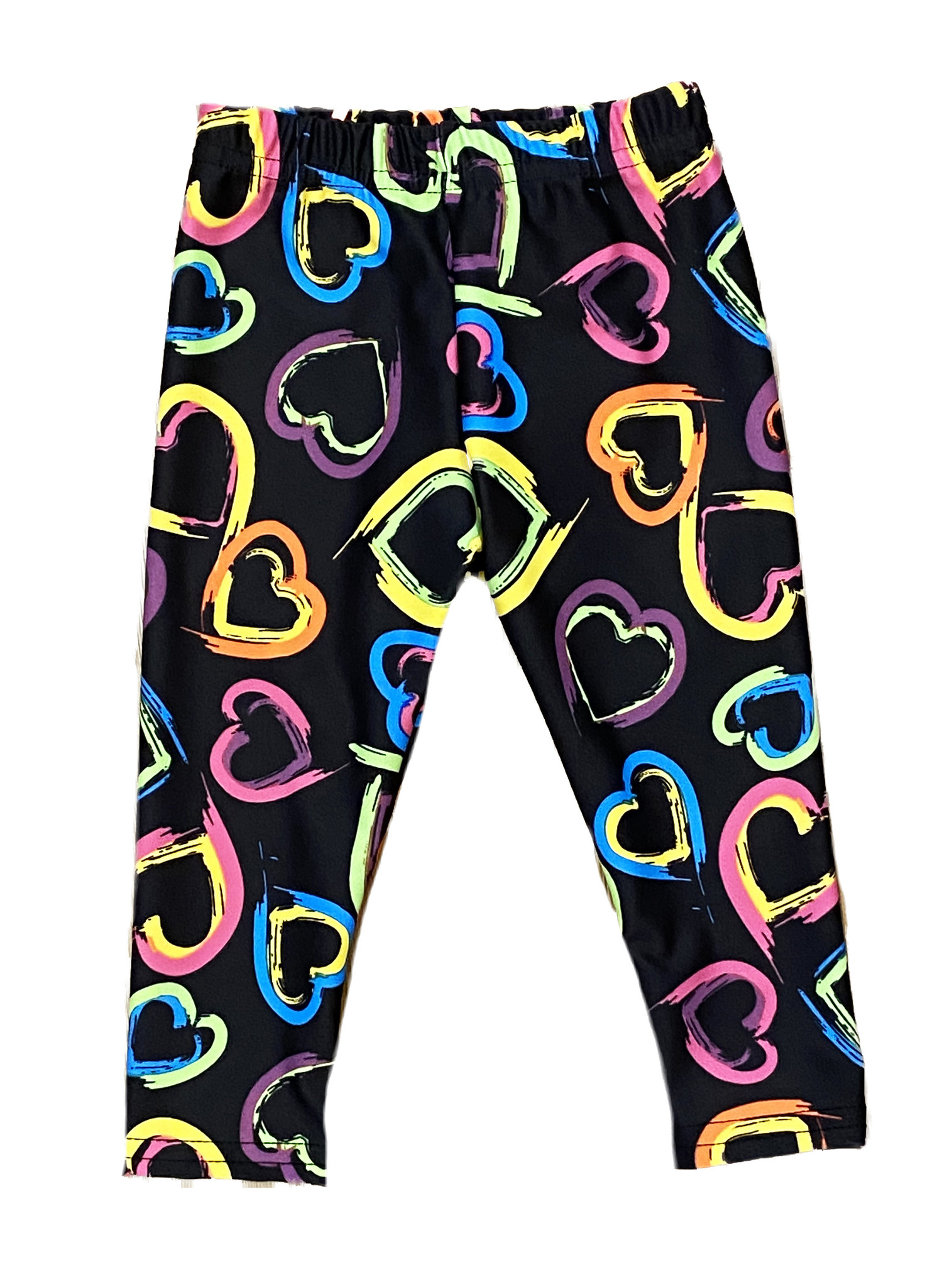 Dori Creations Neon Hearts Infant Legging
