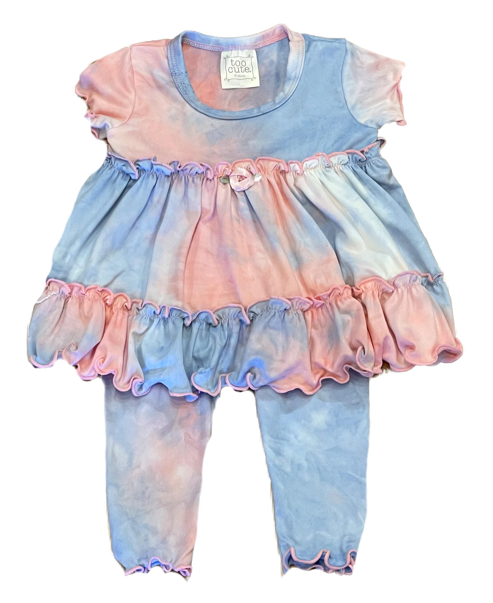 Too Cute Sweet Pink/Blue TD Ruffle Set