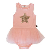 Petite Hailey Pink Gold Star Tutu Dress